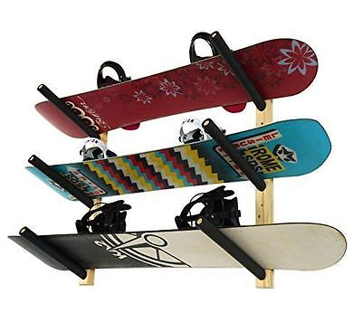 3 Snowboard Rack | Wood Wall Storage Mount | StoreYourBoard | NEW