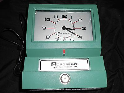 Acroprint Time Clock Model 125NR4 Without Key