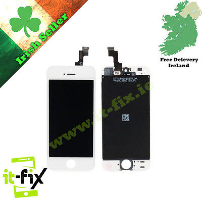 Apple iPhone 5S Replacement Lcd Touch Screen Digitizer Glass Assembly - White