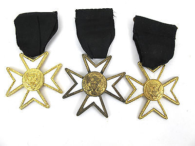 Lot of 3 Vintage Military Widow Medals