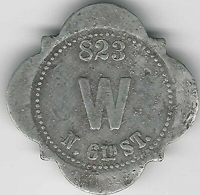 Terre Haute Indiana good for token - W (Wittenberg) - unlisted in Grant