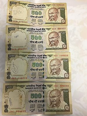 India 500 Rupees old currency Year 2007, 2008 & 2003