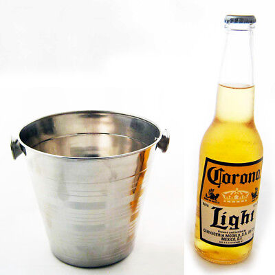 Stainless Steel Ice Bucket Drink Cooler Champagne Wine Pail 32 OZ Bar Restaurant