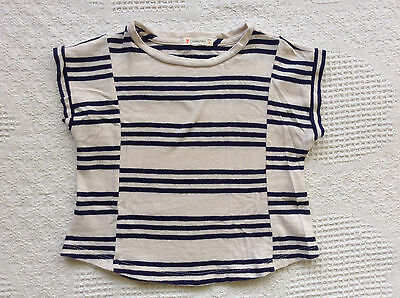 Crewcuts Striped T-shirt 2T Navy Off White Girl's