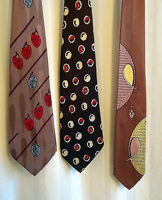 Vintage ties from the 1940s/50s Art Deco and pictorial originals