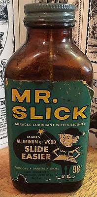 Vintage Mr. Slick Household Miracle Lubricant With Silicones Bottle - Gas & Oil