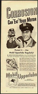 1945 Vintage Ad for Mobil Upperlube (021812)