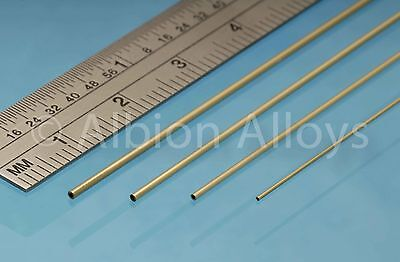 Albion Alloys Round Micro Brass Tube 3 Pieces 305mm Length Scratch Building