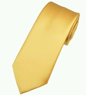 Rich gold satin tie for kids boy toddler or baby