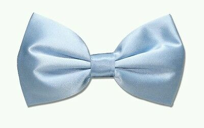 Baby blue light blue satin bow tie for kids boy toddler or baby