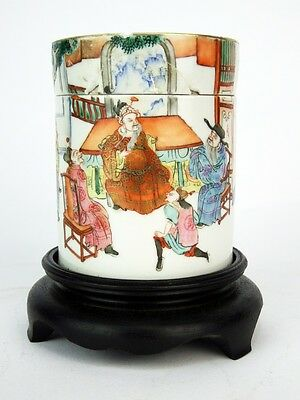 18th c. Chinese Porcelain Covered Jar/Tea Caddy