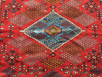 4x7 HAND KNOTTED PERSIAN IRAN RUG WOVEN MADE ANTIQUE 4 x 7 wool 5 6 8 heriz rugs