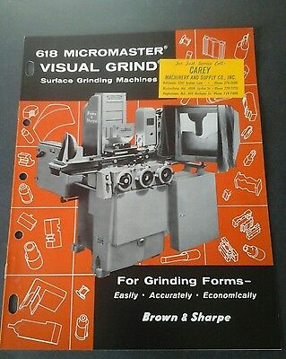 Vintage Brown & Sharpe grinding machine tool brochure, Machinists Catalog