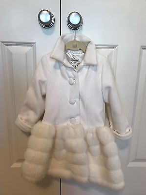 ULTRA GLAM!  Helena Neiman Marcus Exclusive Faux Fur Coat - size 3T