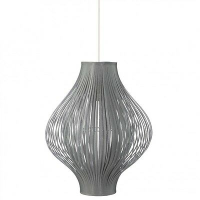 "Paris Prix - Lampe Suspension Pliante ""Yisa"" 44cm Gris"