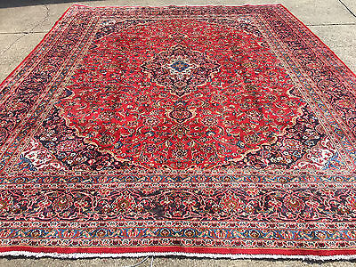 9x12 HAND KNOTTED PERSIAN AREA RUG IRAN MADE WOOL WOVEN 9 x 12 antique rugs 10 8