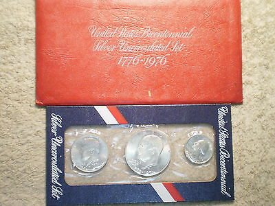 1976 3-Piece Silver Uncirculated Mint Set/ With Original Envelope