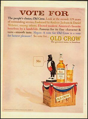 Vintage ad for Old Crow/Great name in Bourbon  (012513)