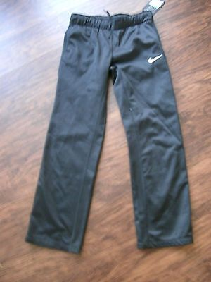 Nwt Girls Nike Brand Black Fleece Lined Dry Fit Athletic Pant Size Medium