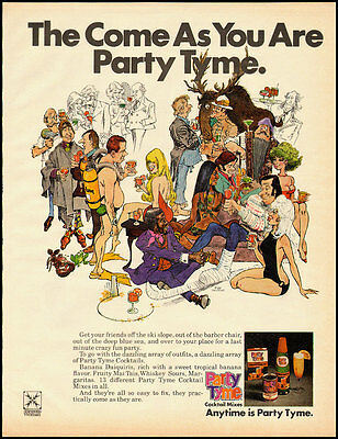 Vintage ad for Party Tyme Cocktail Mixes/Great illustration (011813)