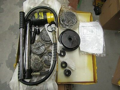 """Used Hydraulic Hole Punch Knockout Set 6 Dies(63 - 114mm, 2 1/2""""-4 1/2"""" 15 tons)"""