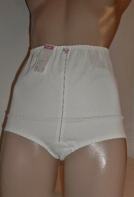 Vintage 1960's White Acetate Lycra Spandex Panty Girdle Brief L ~ Nost