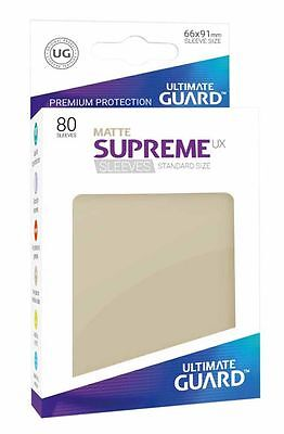 Ultimate Guard - Supreme UX Sleeves Standard Mat Sand 80 Card Sleeves Cases