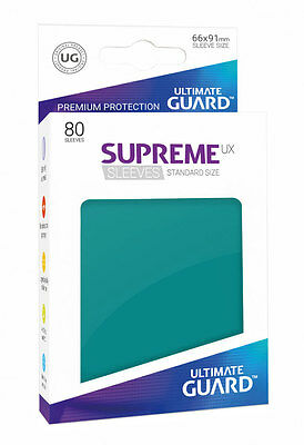 Ultimate Guard - Supreme UX Sleeves Standard Petrol 80 Pieces Card Sleeves Cases