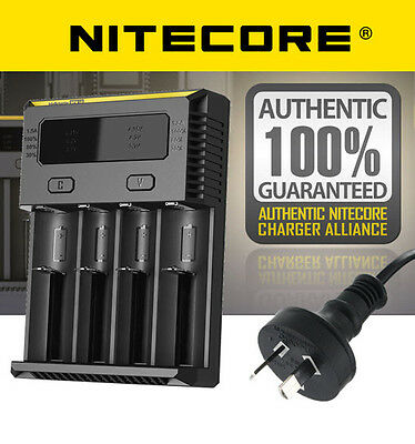 2017 Nitecore i4 Intellicharge Universal Battery Charger RCR123A 18650 AA/AAA