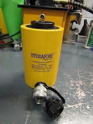 "USED 20 tons 2"" stroke Single acting Hollow Ram Hydraulic Cylinder Jack YG-2050K"