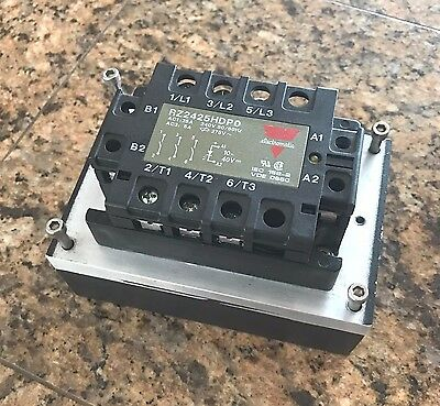 Electromatic Solid State Relay Rz2425Hdp0 3-Phase W/heatsink
