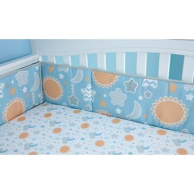 Little Bedding by NoJo Celestial Baby 4-Piece Traditional Padded Crib Bumper