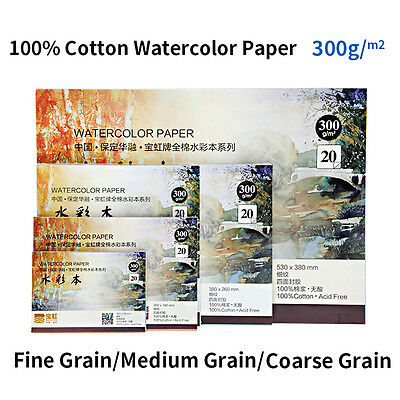 300g Professional Watercolor Paper Pad 20 Sheets Hand Painted Water-soluble Book
