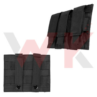 Tactical Triple Pistol Double Stack Magazine Clip Pouch Holster MOLLE PALS Black