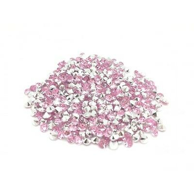 520 Strass Acryliques Rose Perle 4mm - Neuf