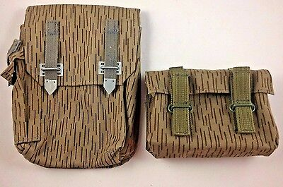 Lot of 2 Vintage Canvas Genuine Military Ammunition Pouches With Belt Loops