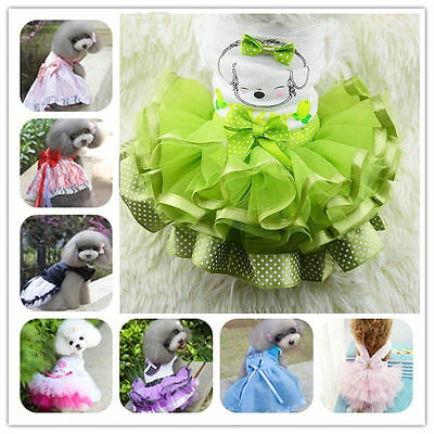 Lovely Pet Clothes Dog Apparel Puppy Princess Costume Cat Tutu Lace Skirt Dress