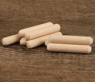 "1/4""(6mm)Diameter~ 6/5""(30mm) Length~ Grooved Fluted Wooden Dowels Pin Hardwood"
