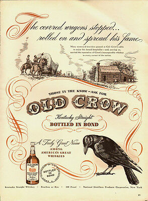 1947 Vintage ad for Old Crow Kentucky Straight Whiskey/Covered wagon (051513)