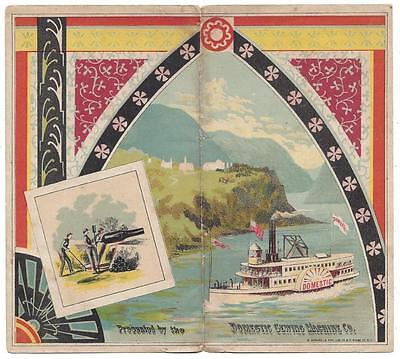 Domestic Sewing Machine Needle Book Cover - Steamboat - G. Schlegel & Son Lith
