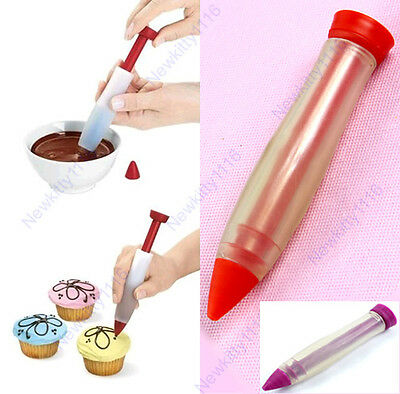 Silicone Plate Writing Pen Syringe Cake Pastry Cookie Cream Chocolate Decorating