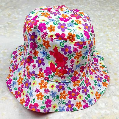 Reversible Toddler Girls' Child Bucket Hat Sunhat Floral Mickey Mouse Flowers