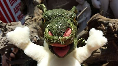 Folkmanis Green Baby Dragon Plush Hand Puppet With Moveable Mouth & Legs