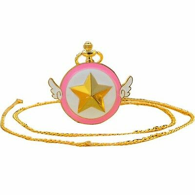 Anime Card Captor Cardcaptor Sakura Kinomoto Star Wings Pocket Watch Chain Watch