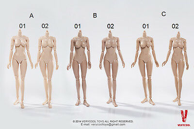 1/6 Verycool female body action figure FX01 FX02 tan pale skin busty (UK stock)