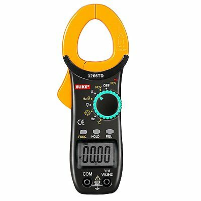 Digital Clamp Meter Multimeter AC DC Voltmeter Auto Range Volt Ohm Tester New