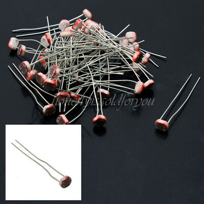50X GL5537 LDR Fotowiderstand Phototransistor Photo Resistor Photowiderstand