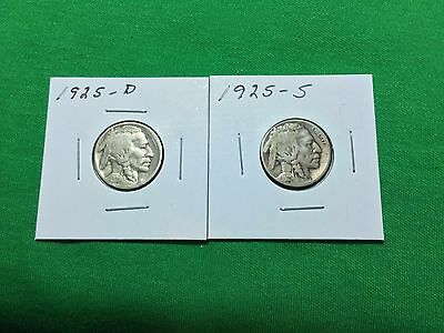 1925 D-S Buffalo Nickels (2)