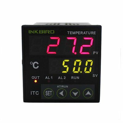 Inkbird ITC-100VH Dual Digital PID Temperature Controller Thermostat 110-240V