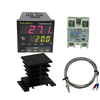 INKBIRD ITC-100VH PID Digital Temperature Controller fan 220V 25 ssr heat sink